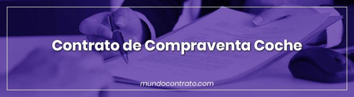 Modelo Contrato Compraventa Coche