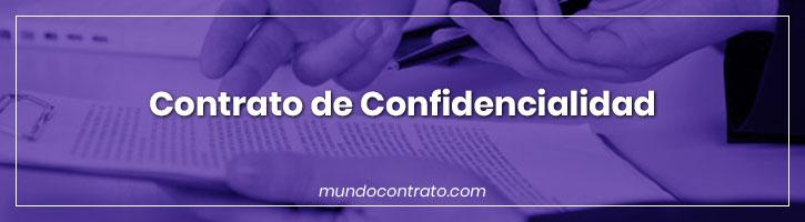 Modelo Contrato Confidencialidad