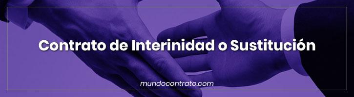 Modelo Contrato Interinidad Sustitucion