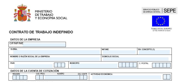 Modelo Contrato Indefinido